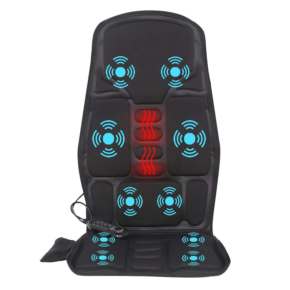 IDODO Vibration Car Back Massager, Back Massage Cushion with Heat, 10 Vibrating Motors & Heating Therapy to Release Stress and Fatigue, for Car, Home and Office Use by IDODO