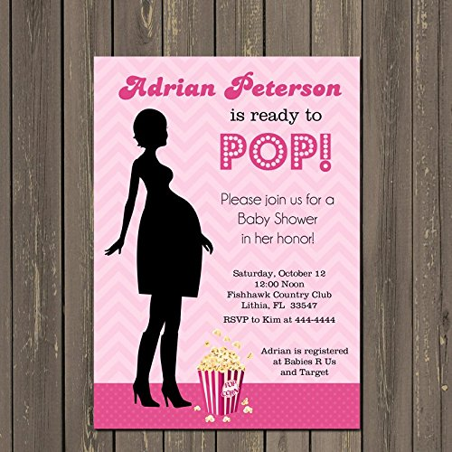 Amazon ready to pop baby shower invitation shes ready to pop ready to pop baby shower invitation shes ready to pop invite about to pop filmwisefo Images
