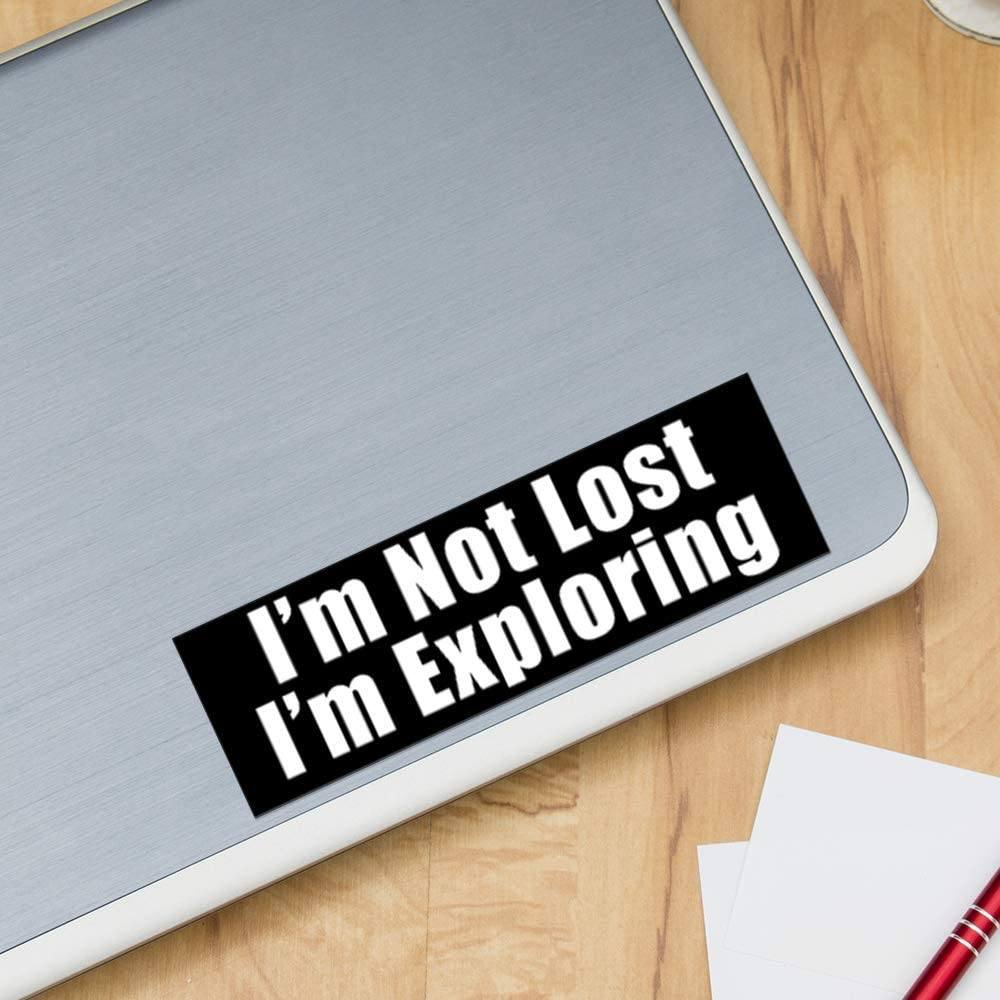 Funny Novelty Decal ITS A SKIN Im Not Lost Im Exploring Vinyl Sticker Decal for Laptop Tumbler Car Notebook Window or Wall