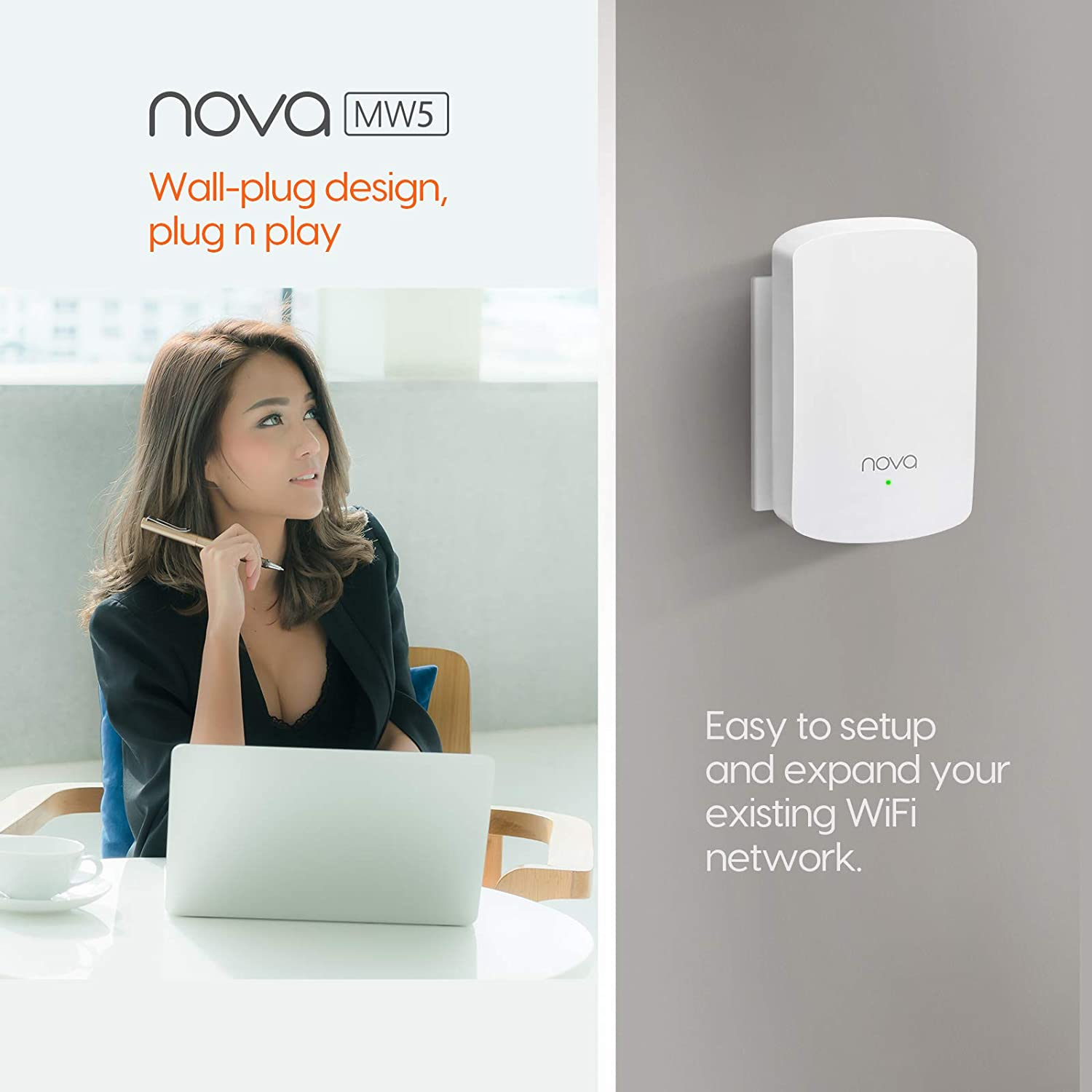 Computers & Accessories Whole Home & Mesh Wi-Fi Systems Plug and ...