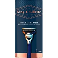 King C. Gillette Men's 5 Blade Shave and Edging Razor with Built In Single Blade Precision Trimmer and Premium Handle