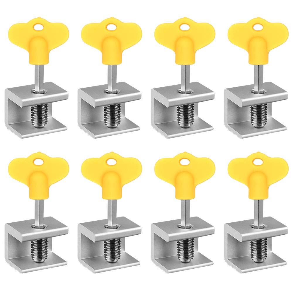 Toward Window Locks, Aluminum Alloy Sliding Window Door Frame Locks with Keys Child Safety Anti-Theft Locks, 8 Locks + 8 Keys by Toward