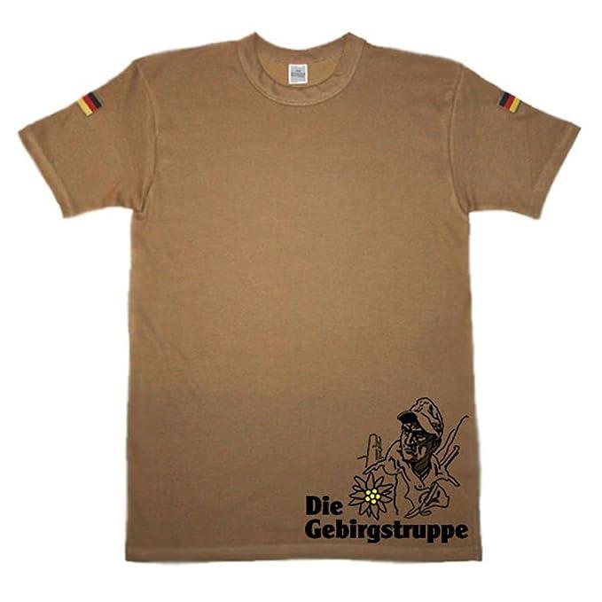 La Fuerza De Montaña Montaña Cazadores inoxidable Blanco Escudo Emblema Logo Camiseta de buceo Original Después de camisa de buceo TL nuevo isaf KSK ...