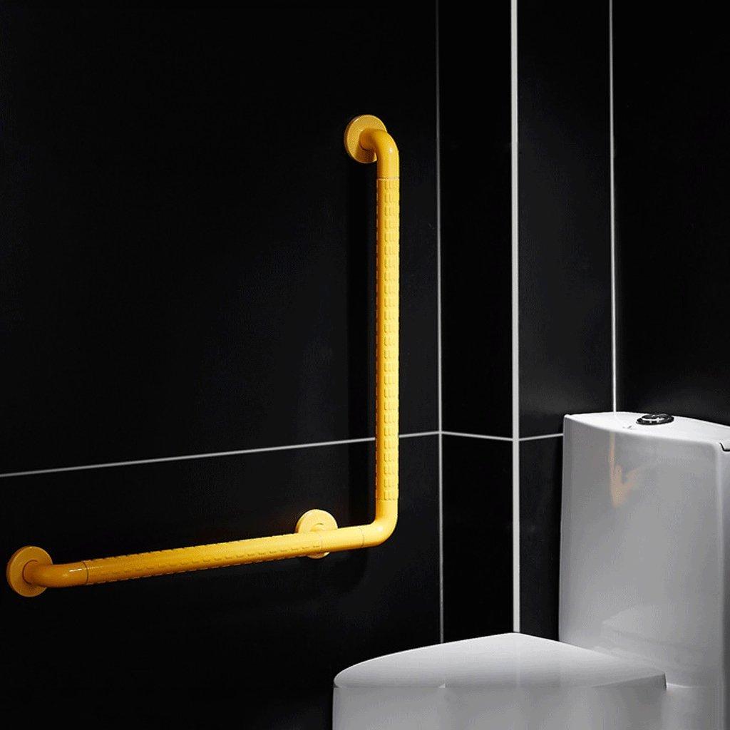 DGF ステンレススチールアームレスト、トイレ高齢者用アームレスト、バスルーム障害者ノンスリップバリアフリーセーフティハンドル(3サイズオプション)黄色 (サイズ さいず : L70cm*H70cm) B07DC5PVRL   L70cm*H70cm