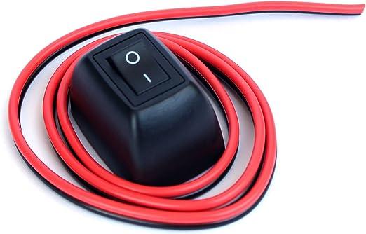 Ytian Auto Diy Schalter Paste Typ Knopf Schalter Off On Dc 12v 24v Für Nebelscheinwerfer Drl