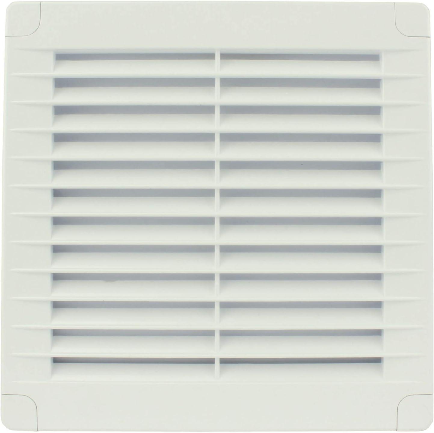 MKK Rejilla de ventilaci/ón Blanco protecci/ón contra la Intemperie, pl/ástico, 170 x 170 mm, Rectangular