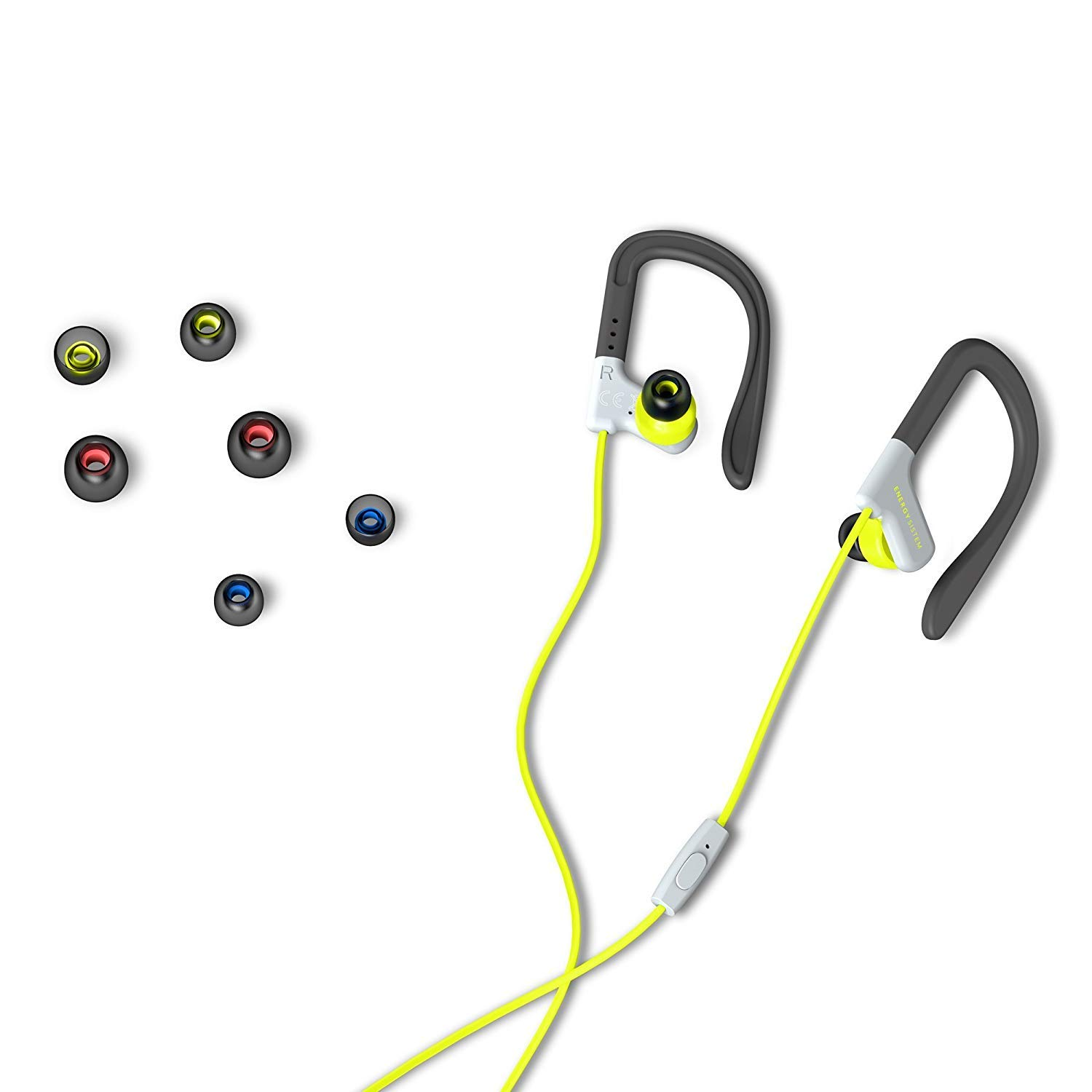 Energy Sistem Sport 1 - Auriculares Deportivos (Cable DE 1.2 m, Mini Jack 3.5 mm, micrófono Incorporado, Secure-fit, Sweatproof, Control Talk) Color ...