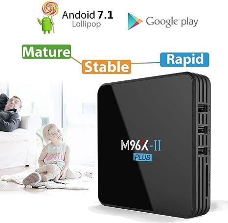 Android 9.0 TV Box M96X TV Box S912 Smart Media Box 1 GB + 8 GB Soporte 4K 2.4 / 5G WiFi 3D Ultra HD H.265 USB 2.0 BT 4.0 100M Ethernet,