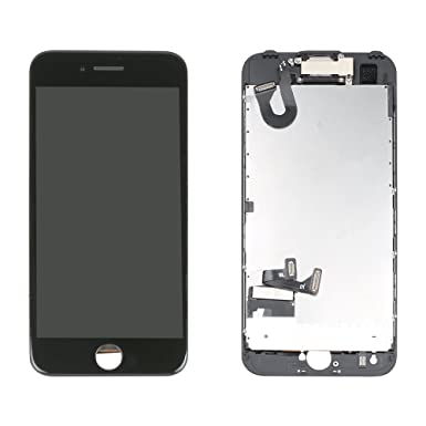 competitive price cf654 f24bc LL TRADER Screen Replacement for iPhone 7 (4.7 inch) LCD Touch Digitizer  Full Display Assembly with Front Facing Camera Proximity Sensor+Ear  Speaker+ ...