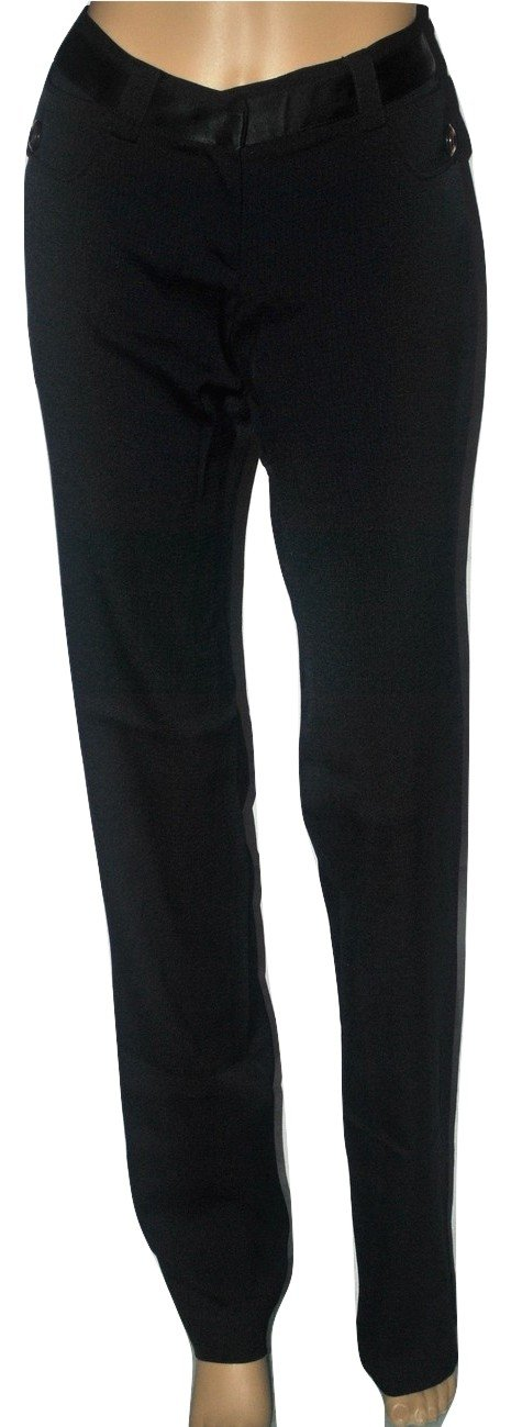 Dolce & Gabbana Women's Stretch Jacquard Black Pants Trousers (40 IT) Size 6