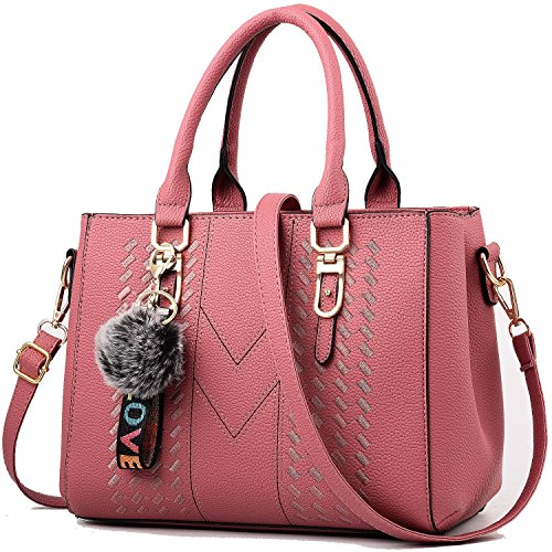 Women Handbags Pink Satchel a Tote Bags and for Shoulder YNIQUE Purses fwRxaanT