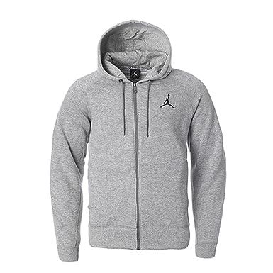 Nike Jordan Jumpman Cepillado FZ Sudadera con Capucha Gris Oscuro/Negro 688995 – 063,