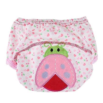 Domybest - Pañales para bebé reutilizables, lavables, de algodón, para niños y niñas