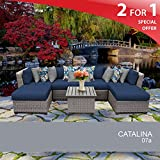 Cheap Catalina 7 Piece Outdoor Wicker Patio Furniture Set 07a