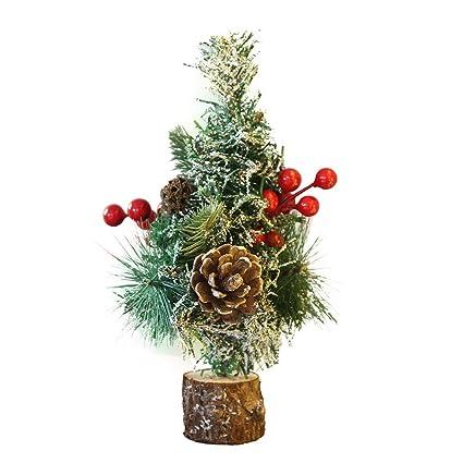 Amazon Com Yjydada 25cm Christmas Table Decoration Mini Christmas