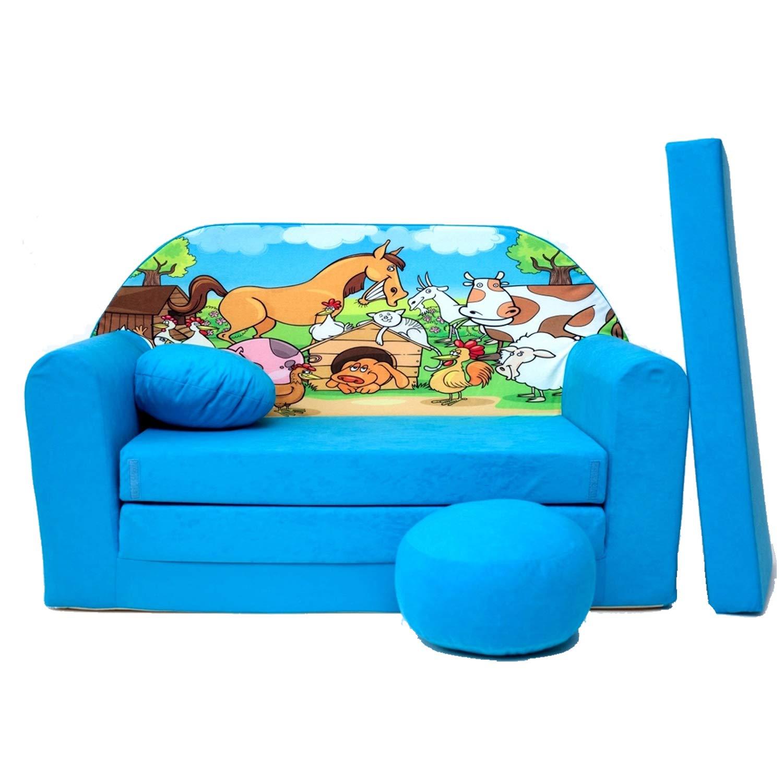35 Kindersofa Spielsofa Minicouch aus Schaum Kindersessel Kissen Matratze Farbwahl