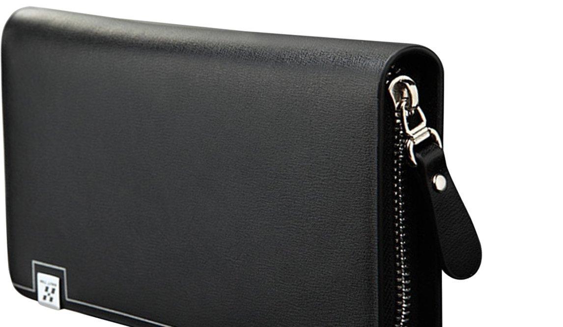 ecc84bb590 Haut Ton Mens Genuine Leather Clutch Bag Handbag Organizer Checkbook Wallet  Card Case  Amazon.in  Bags