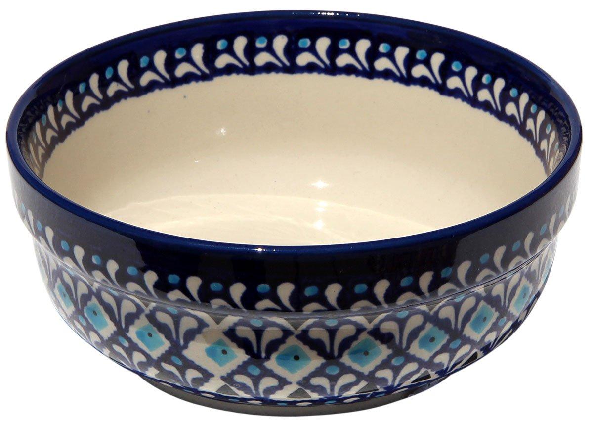 Polish Pottery Bowl 6 Inch From Zaklady Ceramiczne Boleslawiec #833-217a Traditional Pattern 2.5 Diameter 2.5 Diameter Height 6 Zaklady Ceramiczne Boleslawiec 6 Height