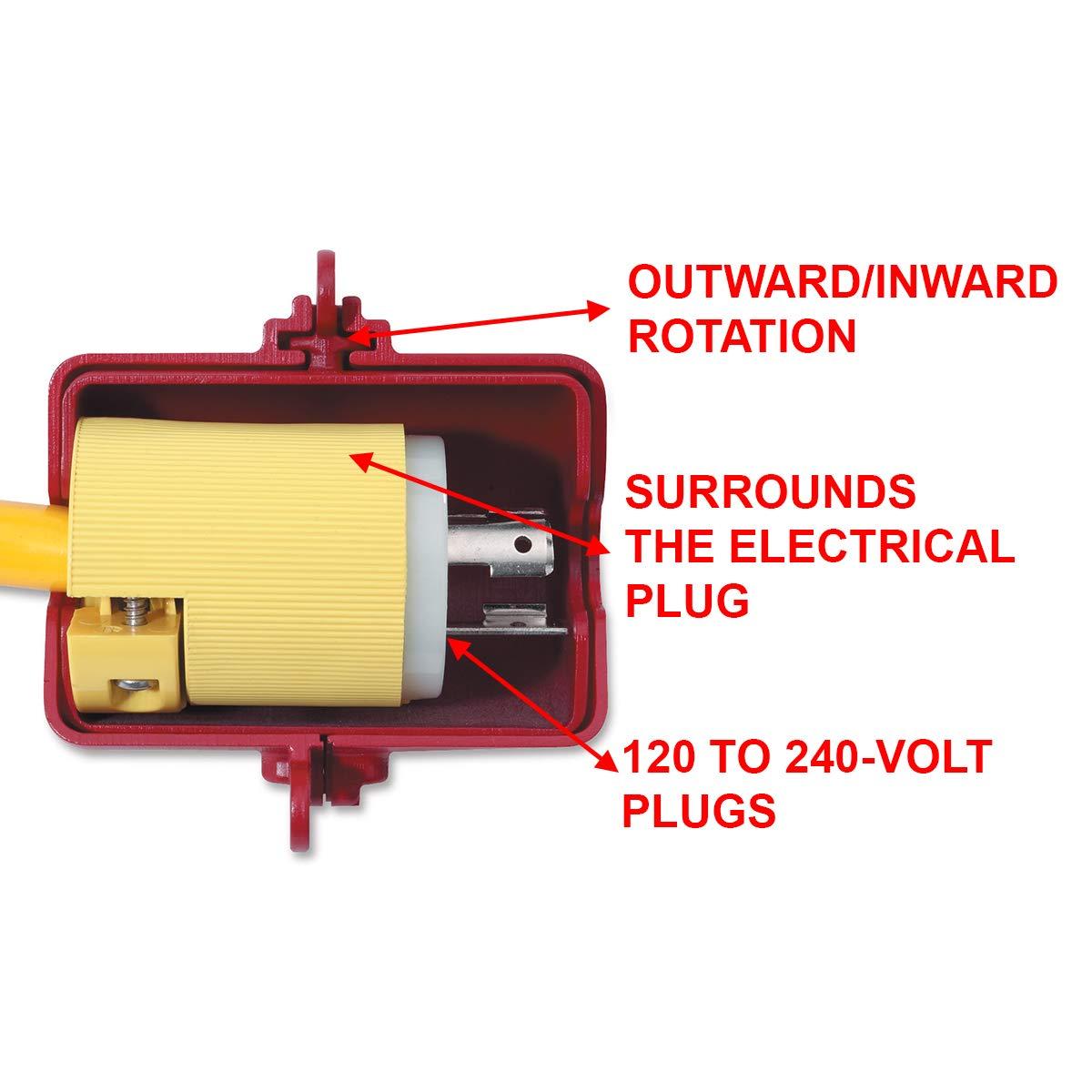 multicolore verrouillable S 1 MasterLock S487/M//Lock petit cache de prise /électrique