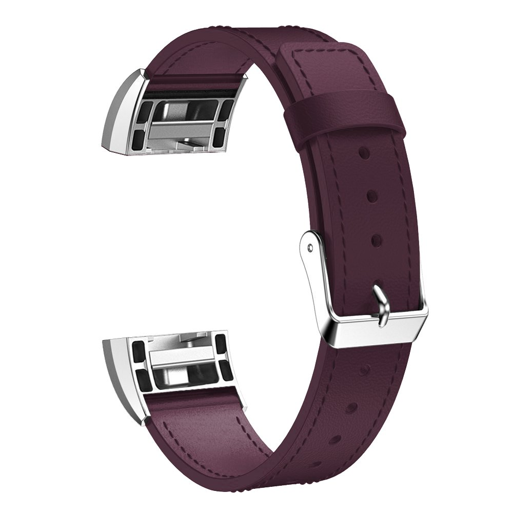 要素Worksレザーバンドfor Fitbit Charge 2 – Small – ブラック B074VGVP1Y Small|パープル パープル Small