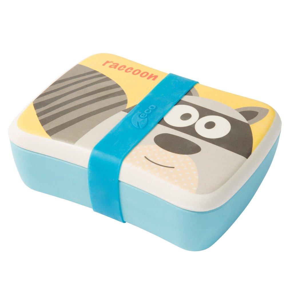 BIOZOYG Kinder Bento Lunchbox aus Bambus I Brotdose I Snack Box I Mädchen und Junge Motiv Brotbox – Einhorn für Kindergarten I Lunch Set To Go BPA frei und 100% lebensmittelecht Bionatic
