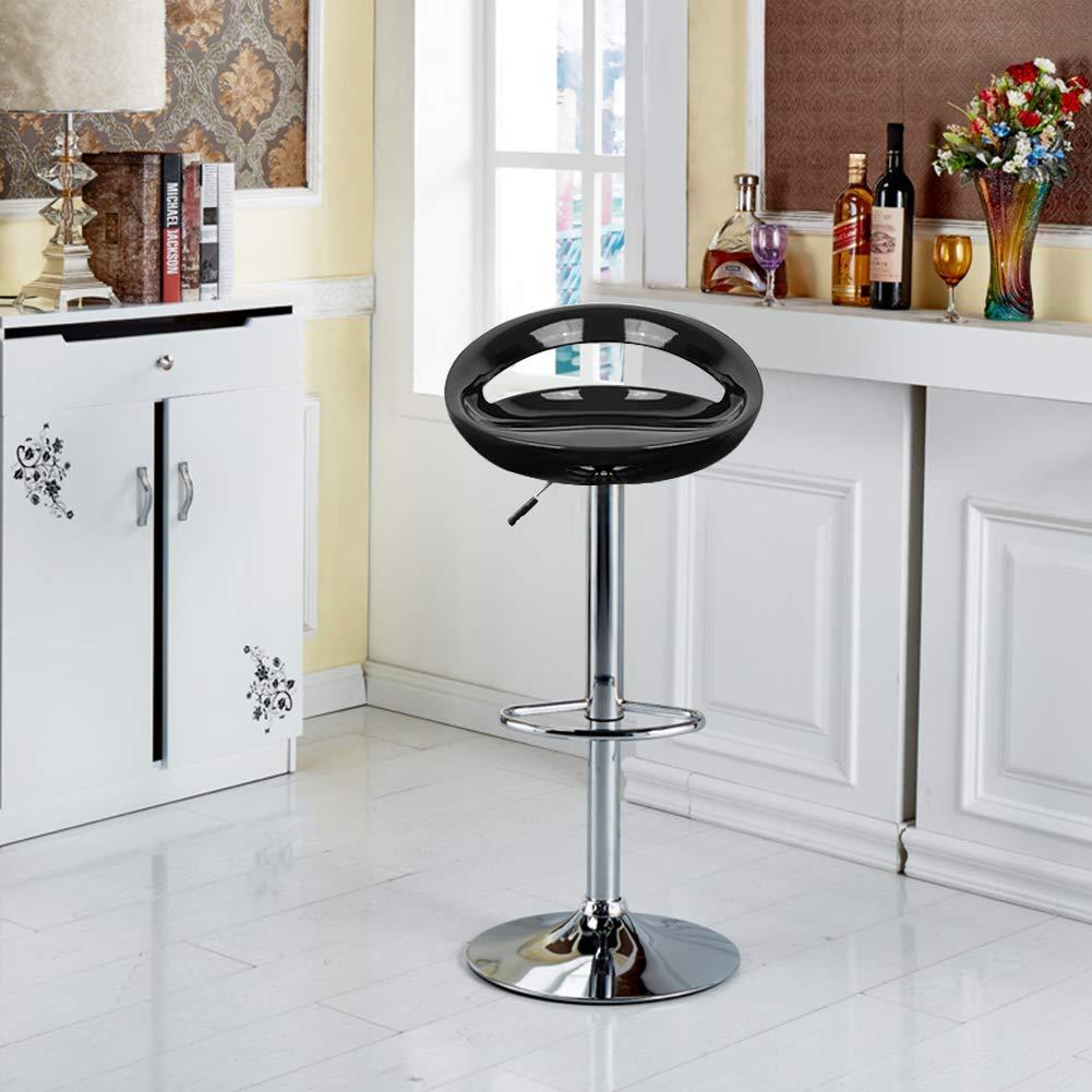 Bianco, 2 MUPAI Sgabello da Bar Sgabello da Bar Girevole con Sgabello Posteriore per Cucina