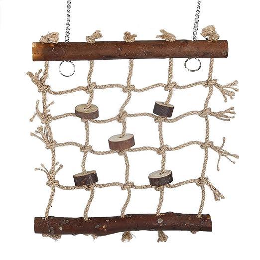 Columpios para pájaros, escalera de madera Hamaca con 2 ganchos y ...