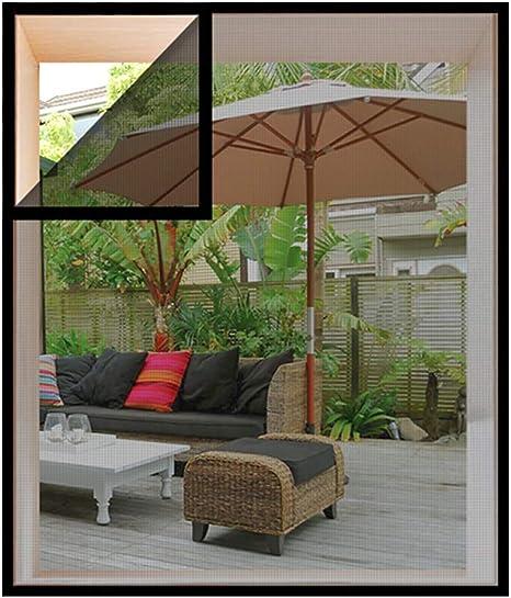 100x100cm, Black DIY Self-Adhesive Window Net Screen with Hook and Loop Sticky Tape Fitted to Multiple Windows Loboo Idea Fiberglass Window Screen Netting Mesh Curtain