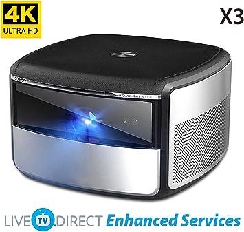 JmGO X3 Native 4K UHD Proyector de Cine en Casa 1500 ANSI Lumens ...