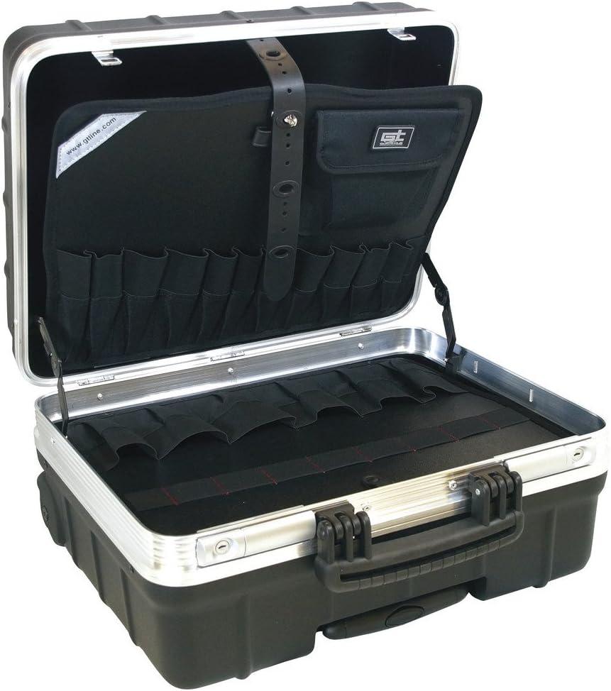 GT LINE ATOMIKWHPTS Maleta portaherramientas con bolsillos fabricada en polipropileno (interior 465 x 352 x 255 mm)