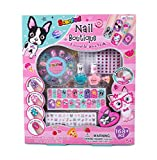 #9: Hot Focus Scented Nail Boutique - 168 Piece Best Pals Nail Art Kit Includes Press on Nails, Nail Patches, Nail Stickers, Nail Polishes, Nail File and Ring - Non-Toxic Water Based Peel Off Nail Polish