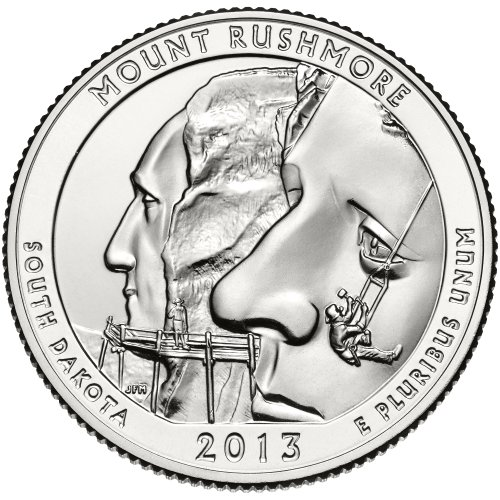 2013 D Mount Rushmore National Memorial Quarter Choice Uncirculated
