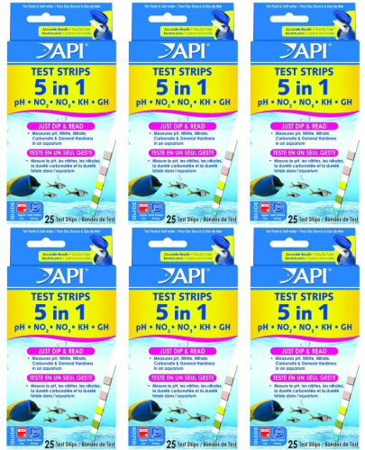 API 5 In 1 Aquarium Test Strips, 150 tests (6 x 25ct)