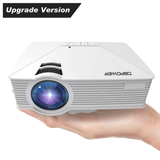 DBPOWER GP15 Mini Proyector Portatil de 1800 Lúmenes, LED Vídeo Cine Proyectores Soporta 1080P para Multimedia Teatro en Casa con Entradas de HDMI USB ...