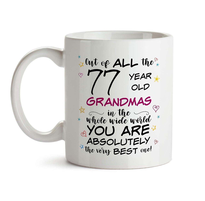 77th Grandma Birthday Gift Mug