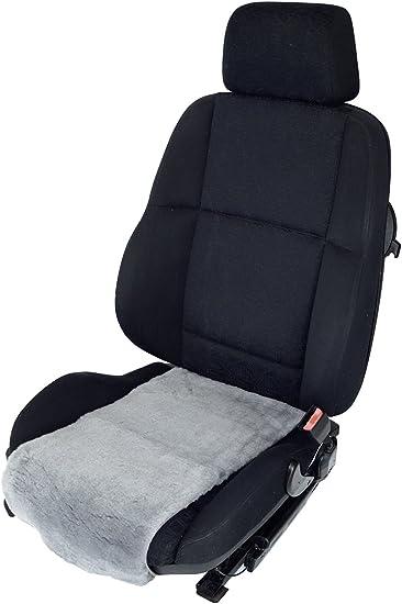 Leibersperger Sitzauflage Aufleger Aus Merino Lammfell 36cm Breite X 60cm Tiefe Für Sitzfläche Taubenblau Auto