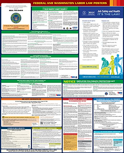 2017 Washington State and Federal All-in-one Labor Law Poster - English