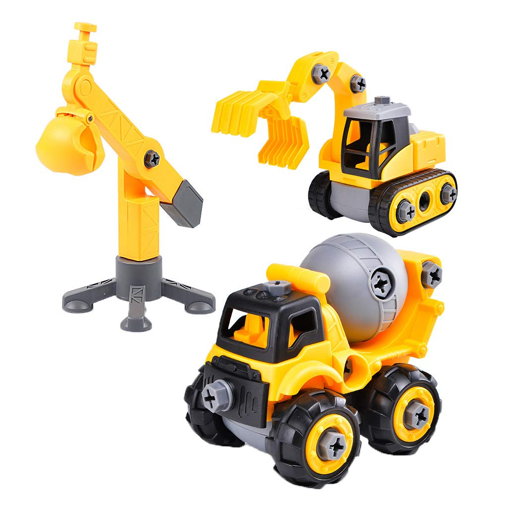 Engineering Car Toys set, Sacow Build Set Of Take Apart Construction Trucks Assembly Toy Children's Set (B)