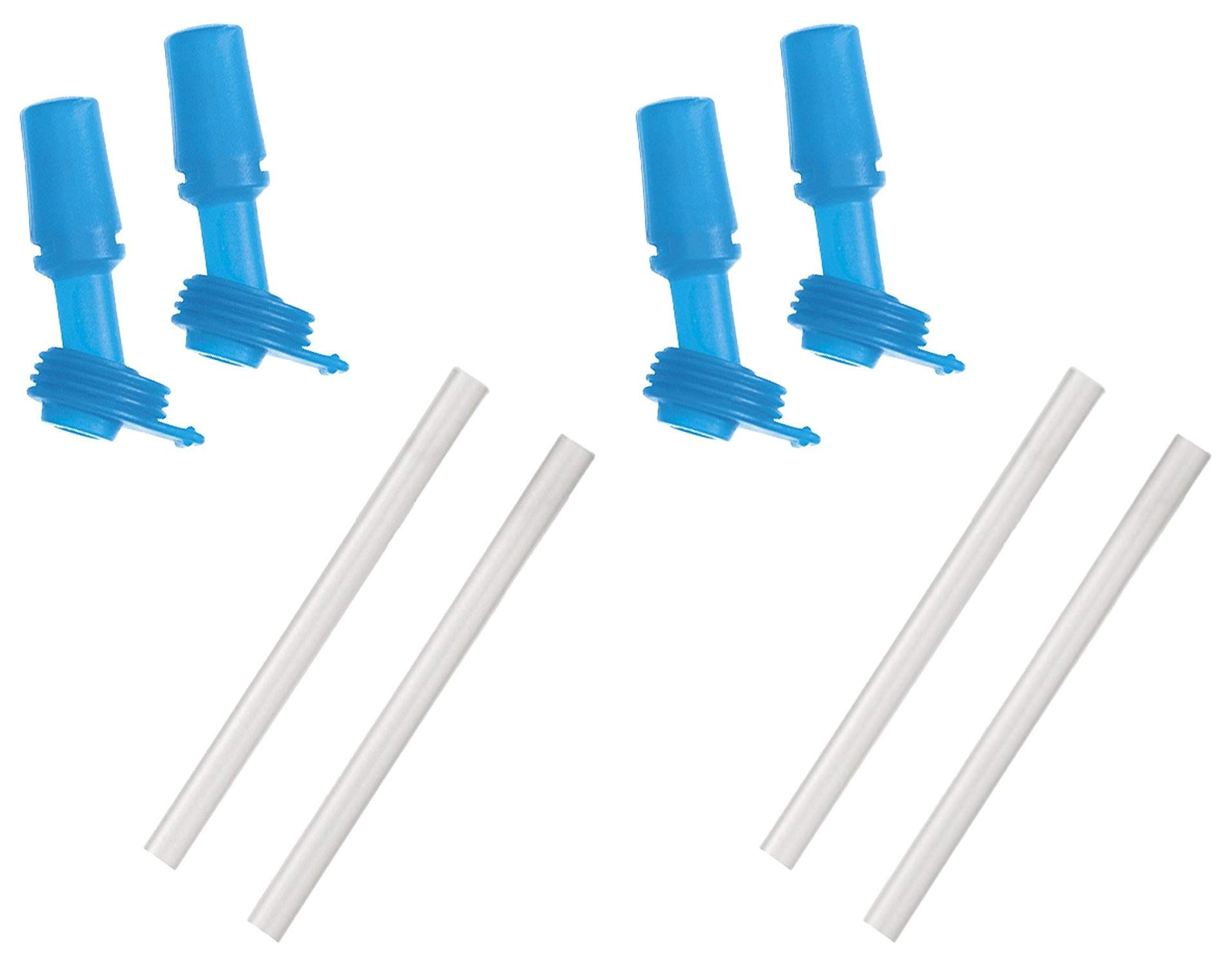 CamelBak Eddy Kids Bottle Accessory 2 Bite Valves/2 Straws, One Size, Ice Blue (2 Pack)