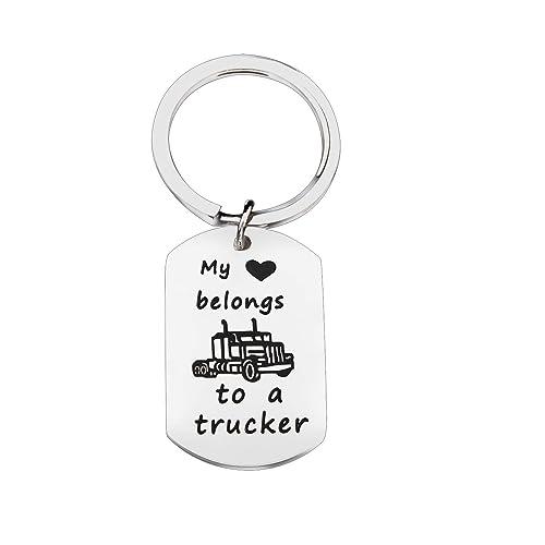 Amazon com: FEELMEM Truck Driver Going Away Key Chain