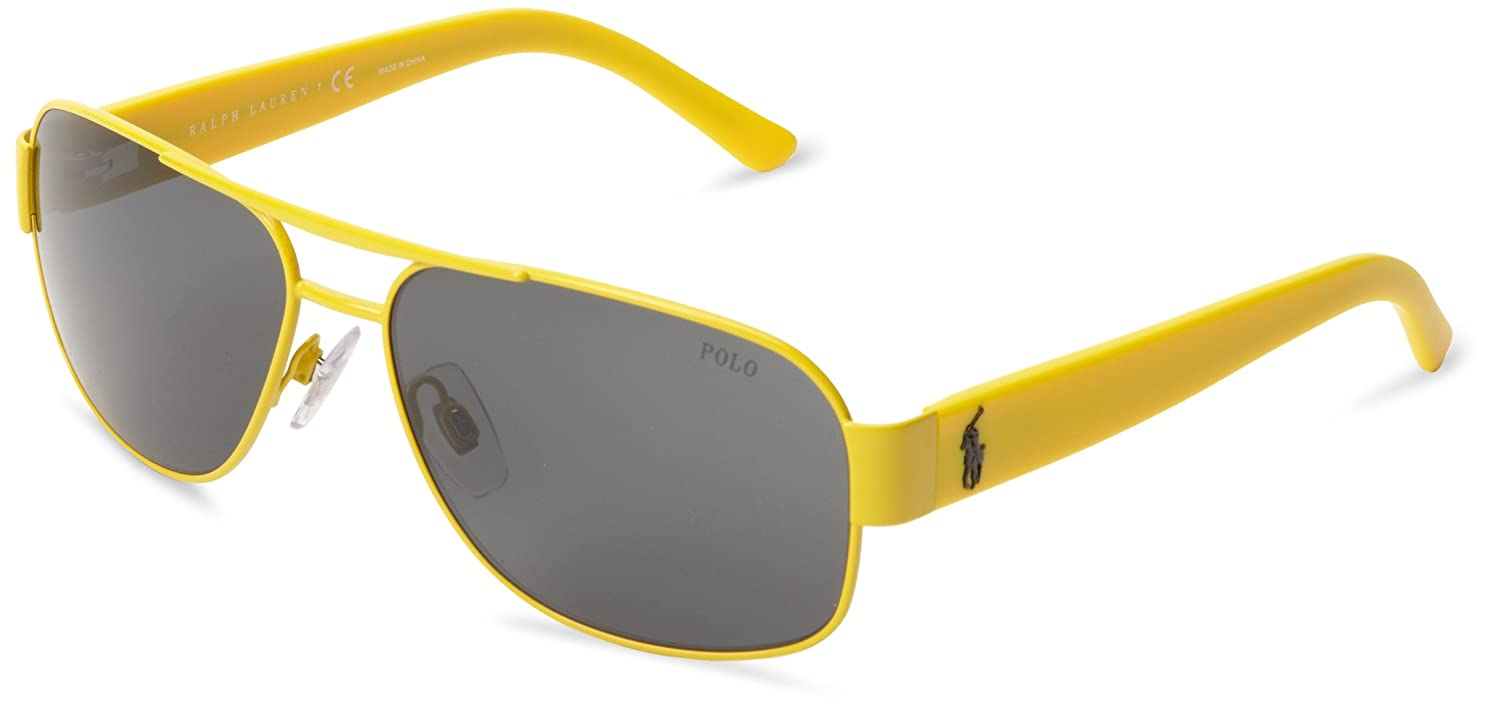 POLO Gafas de sol PH 3080 924187 Mate Amarillo 52MM: Amazon.es ...