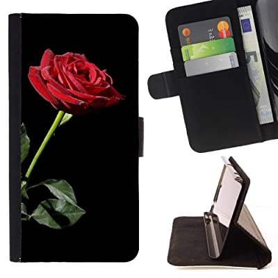 FJCases Rosas Rojas Amor Flor Carcasa Funda Billetera con Ranuras para Tarjetas y Soporte Plegable para Motorola Moto E5 Play/Moto E5 Cruise