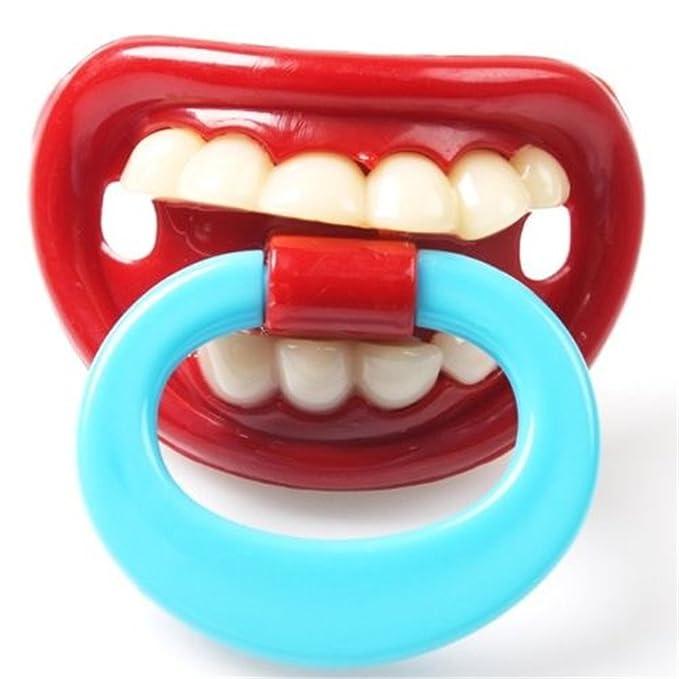 Hangqiao Baby - Chupete divertido, diseño de boca con dientes (6 modelos) Arten3 Talla:talla única