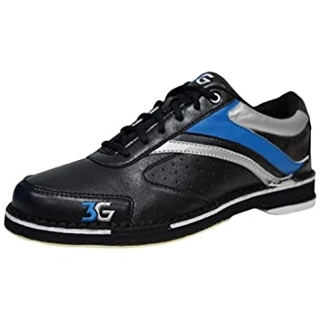 3G Mens Classic Pro Bowling Shoes- Right Hand (6 M US, Black/