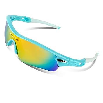 RIVBOS 805 Unisex Gafas de Sol de Deporte Polarizadas 100% UV 400 Protection Antiniebla Lentes Impermeables Gafas para Bicicleta Jogging Conducir Pesca ...