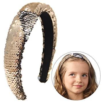 Amazon.com   Basumee Mermaid Sequin Headband 8aead3ff80d