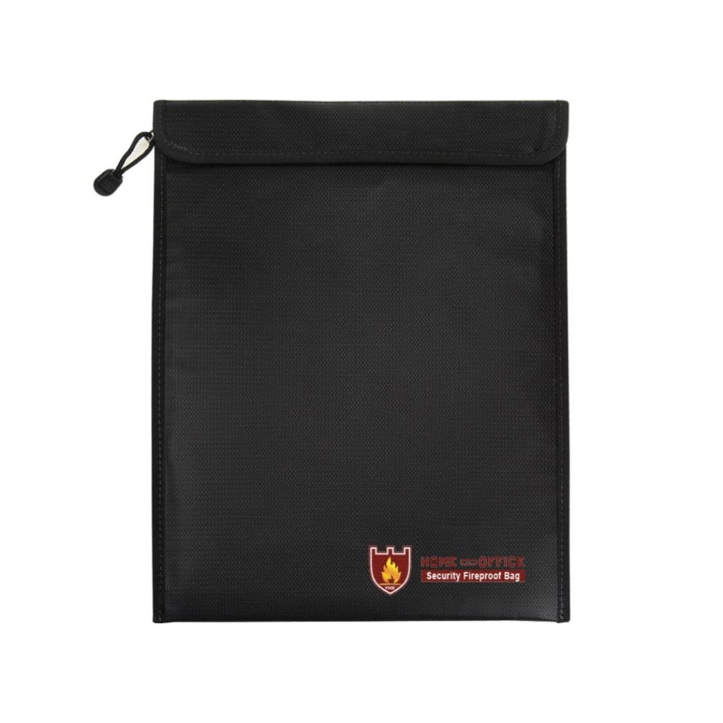 Colorful TM Silver Fireproof Document Fire Resistant Pouch Document Waterproof Bag With Fireproof Zipper for Money Safe
