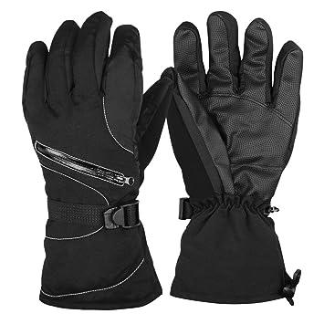 cfeeaf4319 Guenx Handschuhe, Unisex Skihandschuhe Motorradhandschuhe Winter  Wasserdicht Snowboard Handschuhe Warm Winterhandschuhe verstellbare  Manschetten (XL