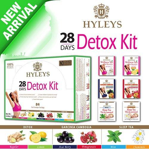 Hyleys 100 Natural 28 Day Detox Kit Detox Slim Sleep Tea Set