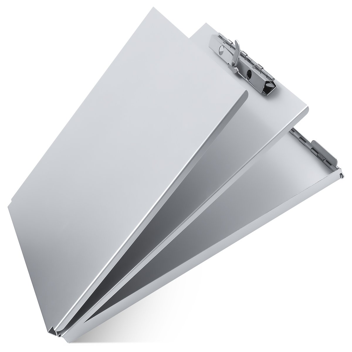 Aluminum Clipboard Metal with Storage Form Holder Aluminum Metal Binder with High Capacity Clip Posse Box Heavy Duty Made - Letter Size Clipboard for Office Business Professionals Stationery Items